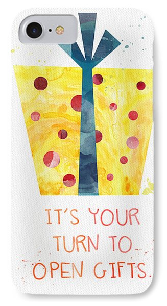 Open Gifts- Card IPhone Case by Linda Woods