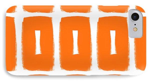 Orange Boxes- Art By Linda Woods IPhone 7 Case by Linda Woods