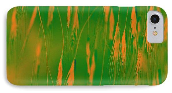 Orange Grass Spikes Phone Case by Heiko Koehrer-Wagner