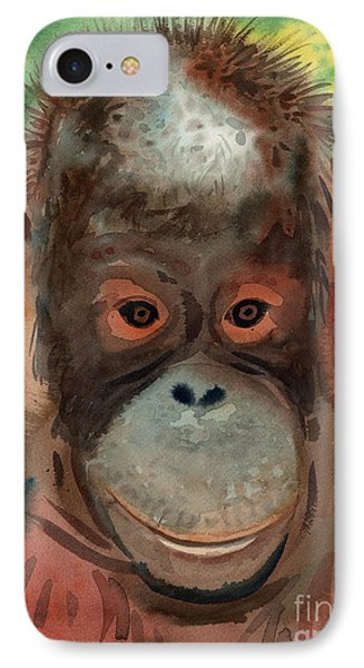 Orangutan IPhone 7 Case by Donald Maier