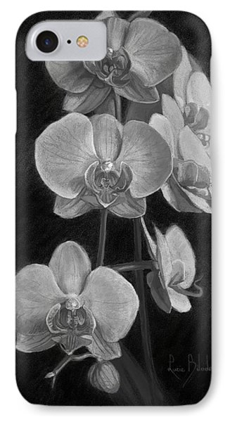 Orchids - Black And White IPhone 7 Case by Lucie Bilodeau