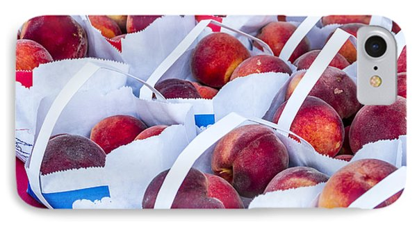 Organic Peaches At The Market IPhone Case by Teri Virbickis