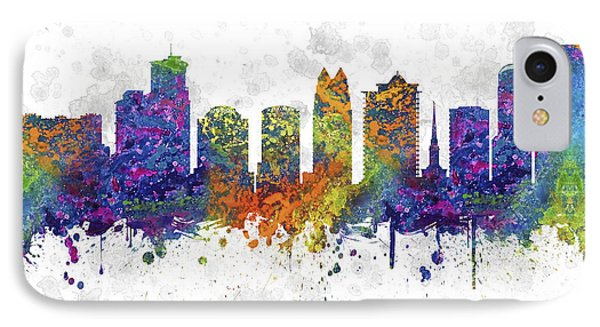 Orlando Florida Skyline Color 03sq IPhone Case by Aged Pixel