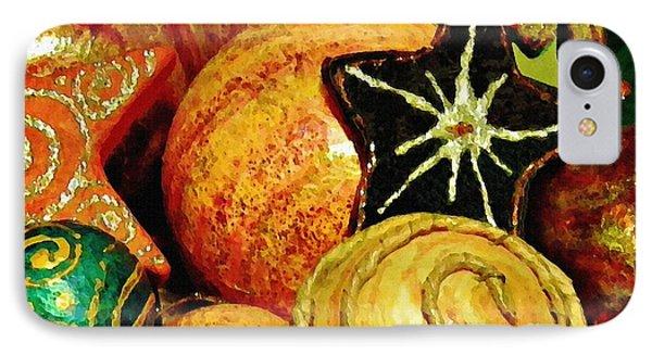 Ornaments 2 Phone Case by Sarah Loft