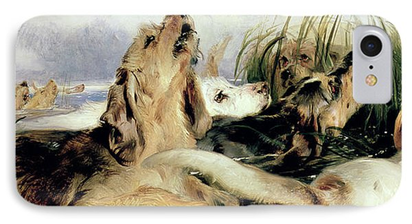 Otter Hounds Phone Case by Sir Edwin Landseer