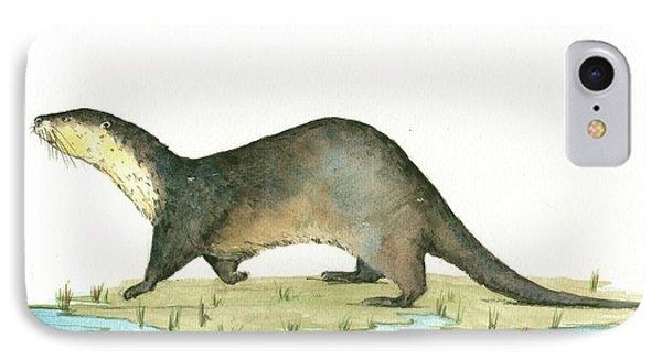 Otter IPhone Case by Juan Bosco