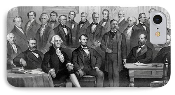 Our American Presidents 1789 - 1881  IPhone Case by War Is Hell Store