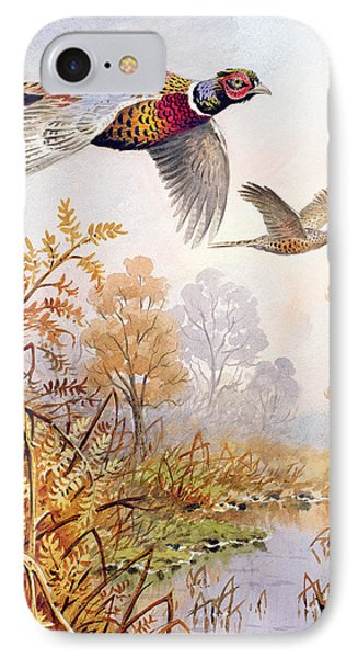 Over The Fen IPhone Case by Carl Donner