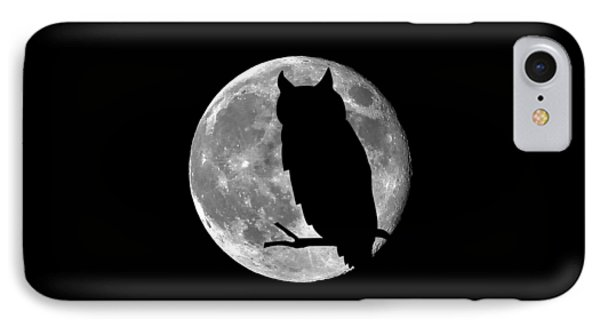 Owl Moon .png IPhone Case by Al Powell Photography USA