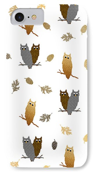 Owl Pattern IPhone Case by Christina Rollo