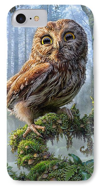 Owl Perch IPhone 7 Case by Phil Jaeger