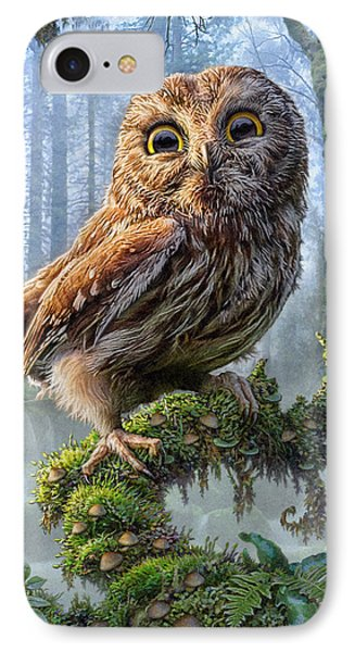 Owl Perch IPhone Case by Phil Jaeger