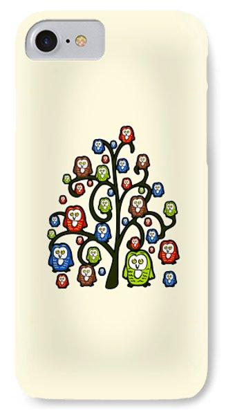 Owl Tree IPhone Case by Anastasiya Malakhova