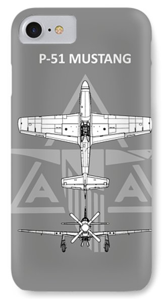 P-51 Mustang IPhone Case by Mark Rogan