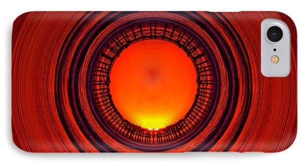 Pacific Beach Pier Sunset - Abstract Phone Case by Peter Tellone