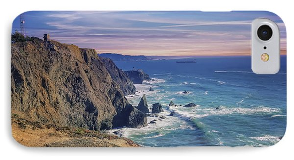 Pacific Ocean View Towards Point Bonita Lighthouse IPhone Case by Jennifer Rondinelli Reilly - Fine Art Photography