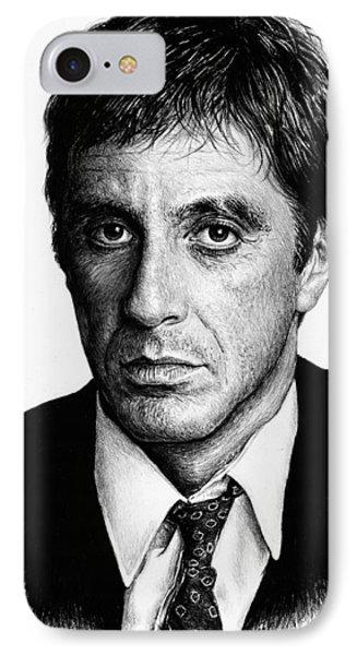 Pacino Scarface IPhone Case by Andrew Read