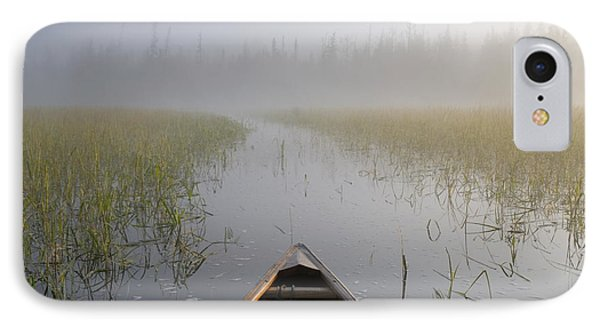 Paddling Into The Fog Phone Case by Larry Ricker