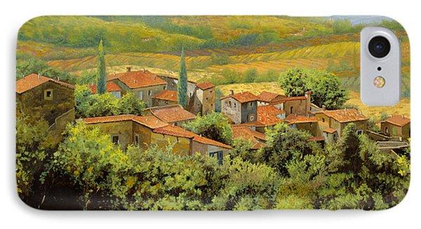 Paesaggio Toscano IPhone Case by Guido Borelli