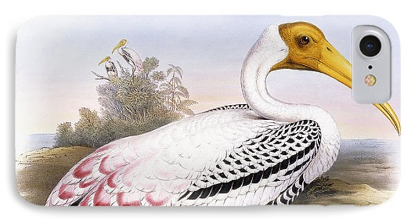 Painted Stork IPhone 7 Case by John Gould
