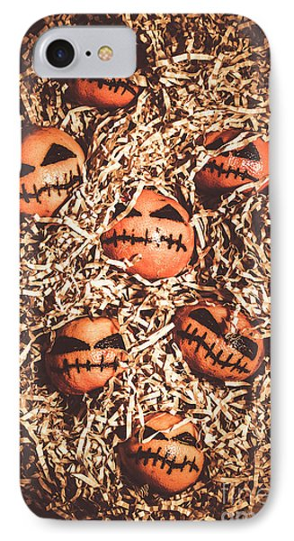 painted tangerines for Halloween IPhone Case by Jorgo Photography - Wall Art Gallery