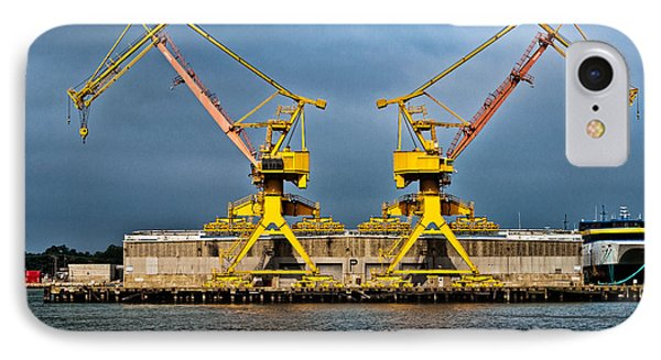Pair Of Cranes Phone Case by Christopher Holmes