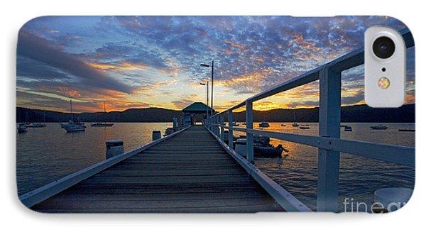 Palm Beach Wharf At Dusk Phone Case by Avalon Fine Art Photography