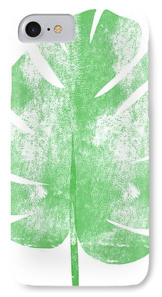 Palm Leaf- Art By Linda Woods IPhone Case by Linda Woods