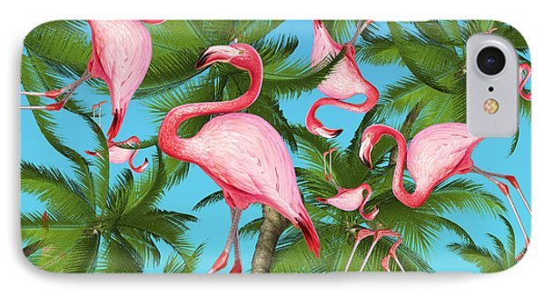 Palm Tree IPhone 7 Case by Mark Ashkenazi
