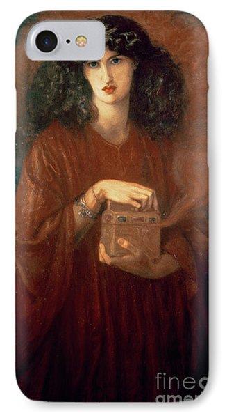 Pandora IPhone Case by Dante Charles Gabriel Rossetti
