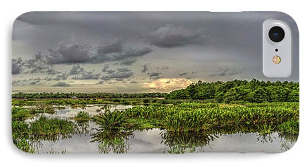 Panorama, Florida Wetlands At Sunset IPhone Case by Felix Lai
