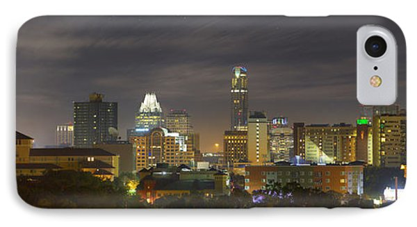 Panorama Of The Austin Skyline On A September Morning IPhone 7 Case by Rob Greebon