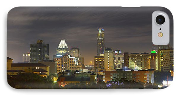 Panorama Of The Austin Skyline On A September Morning IPhone Case by Rob Greebon