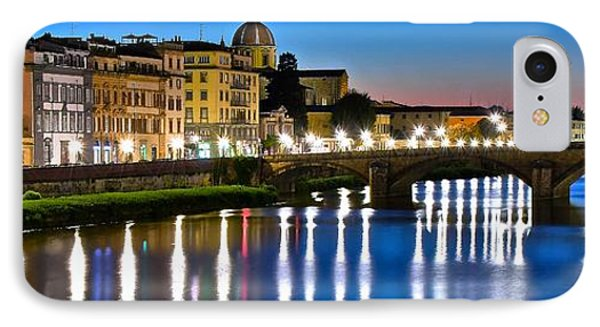 Panoramic Florence Italy IPhone Case by Frozen in Time Fine Art Photography