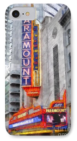 Paramount Theater Boston Ma IPhone Case by Edward Fielding