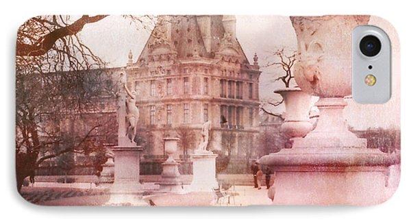Paris Tuileries Park Garden - Jardin Des Tuileries Garden - Paris Tuileries Louvre Garden Sculpture IPhone 7 Case by Kathy Fornal