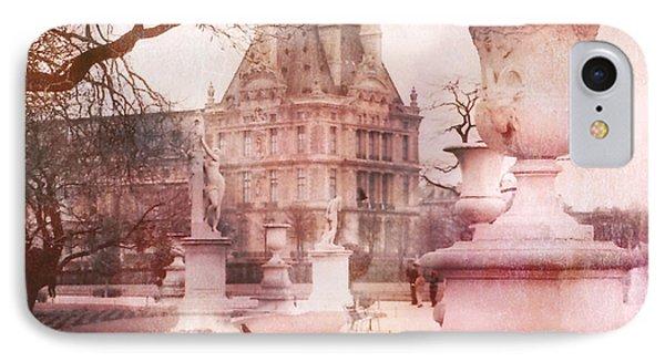 Paris Tuileries Park Garden - Jardin Des Tuileries Garden - Paris Tuileries Louvre Garden Sculpture IPhone Case by Kathy Fornal