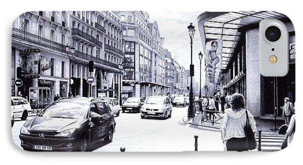 Parisian Street IPhone Case by Andrey Poletaev