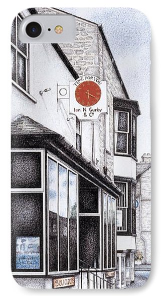 Park Road Clock IPhone Case by Sandra Moore