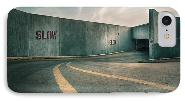 Parking Garage At The End Of The World IPhone Case by Scott Norris