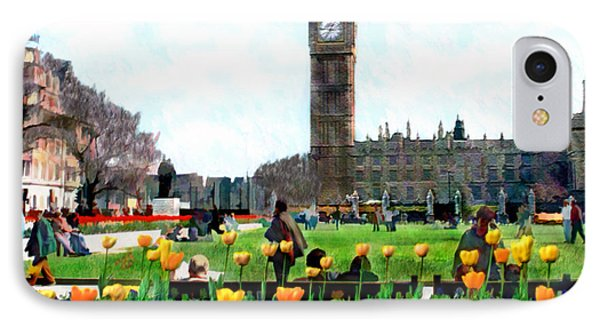 Parliament Square London Phone Case by Kurt Van Wagner