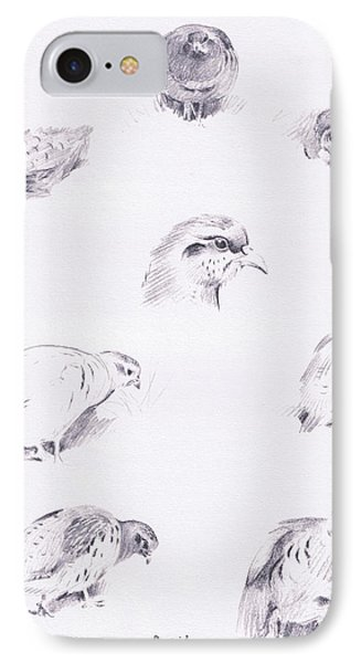 Partridges IPhone Case by Archibald Thorburn