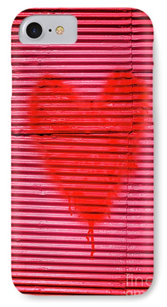 Passionate Red Heart For A Valentine Love IPhone Case by Jorgo Photography - Wall Art Gallery