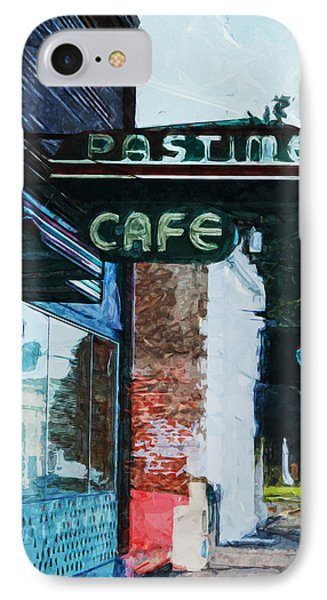 Pastime Cafe- Art By Linda Woods IPhone Case by Linda Woods