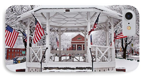 Patriotic Bandstand IPhone Case by Susan Cole Kelly