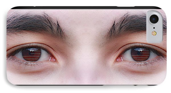 Patriotic Eyes - Poster Phone Case by James BO  Insogna