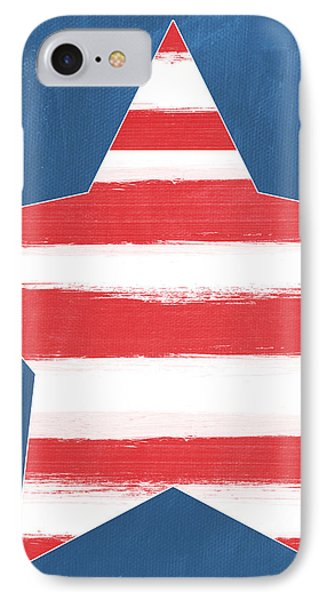 Patriotic Star IPhone Case by Linda Woods