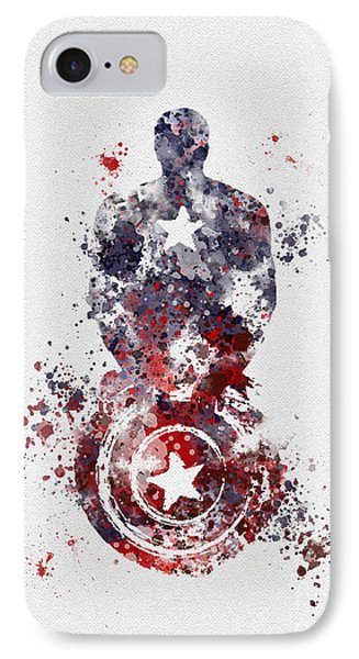 Patriotic Supersoldier IPhone Case by Rebecca Jenkins