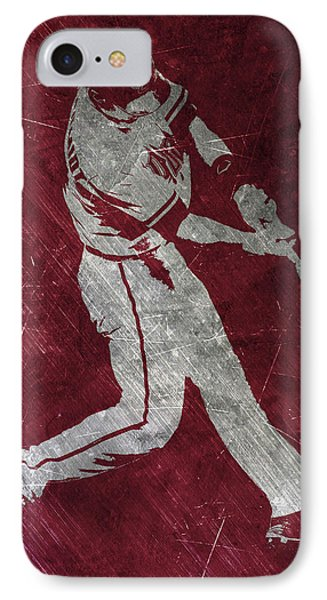 Paul Goldschmidt Arizona Diamondbacks Art IPhone Case by Joe Hamilton