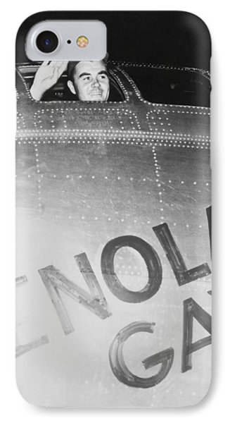 Paul Tibbets In The Enola Gay IPhone Case by War Is Hell Store